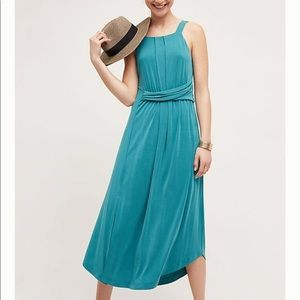 Anthropologie Maeve Teal Sleeveless Maxi Dress